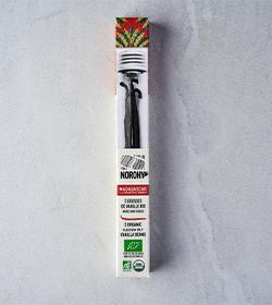 packshot Tube 3 gousses vanille Madagascar norohy